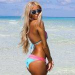 Dasha Kononovich/Belize in swimwear