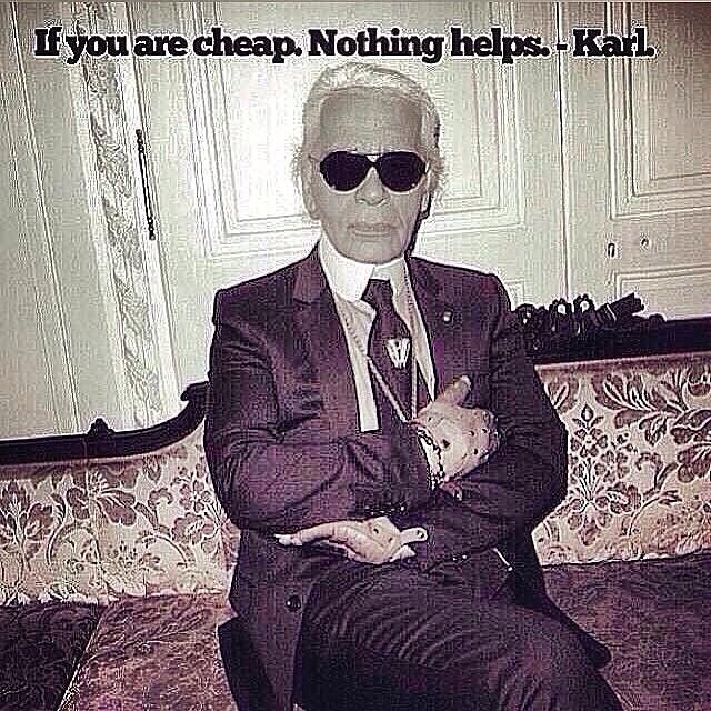 Karl Lagerfeld Qoute