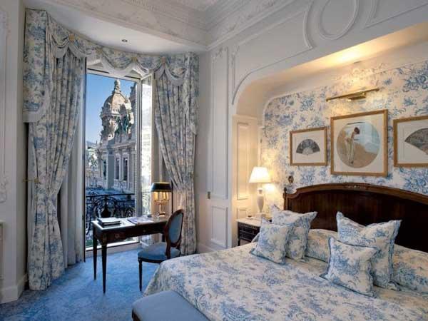 room with nice view in hotel de paris monaco