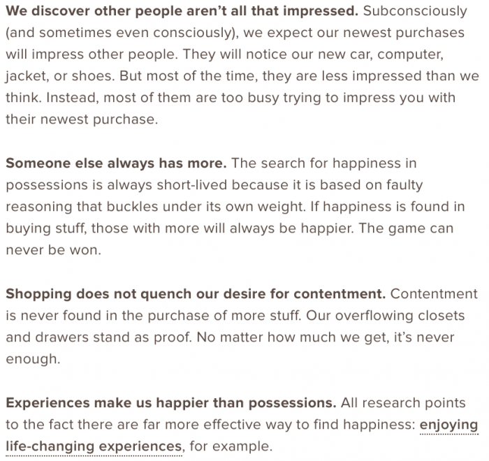 Why shopping will not make us happy
