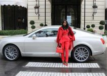 olivia lafaboulese next to car