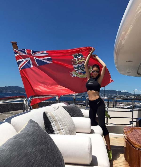 elena kosmina in yacht