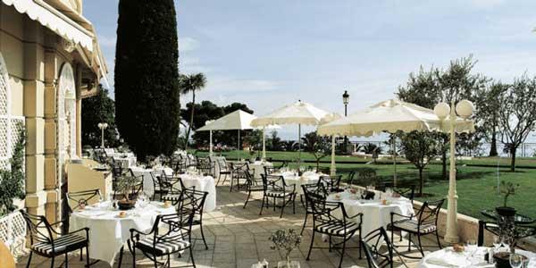 cote jardin restaurant in hotel de paris monaco