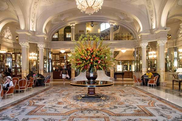 entrance of hotel de paris