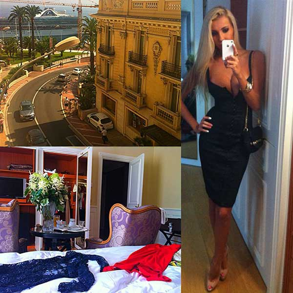 girl inside hotel de paris monaco